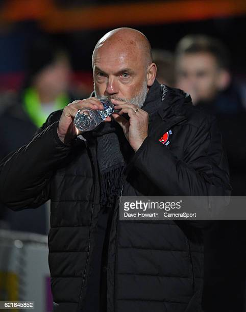 Fleetwood Town's Manager Uwe Rosler during the The Emirates FA Cup First Round match between Southport and Fleetwood Town at the Merseyrail Community...