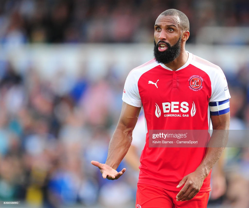 Fleetwood Town's Nathan Pond during the Sky Bet League One match between Bristol Rovers and Fleetwood Town at Memorial Stadium on August 26, 2017 in Bristol, England.