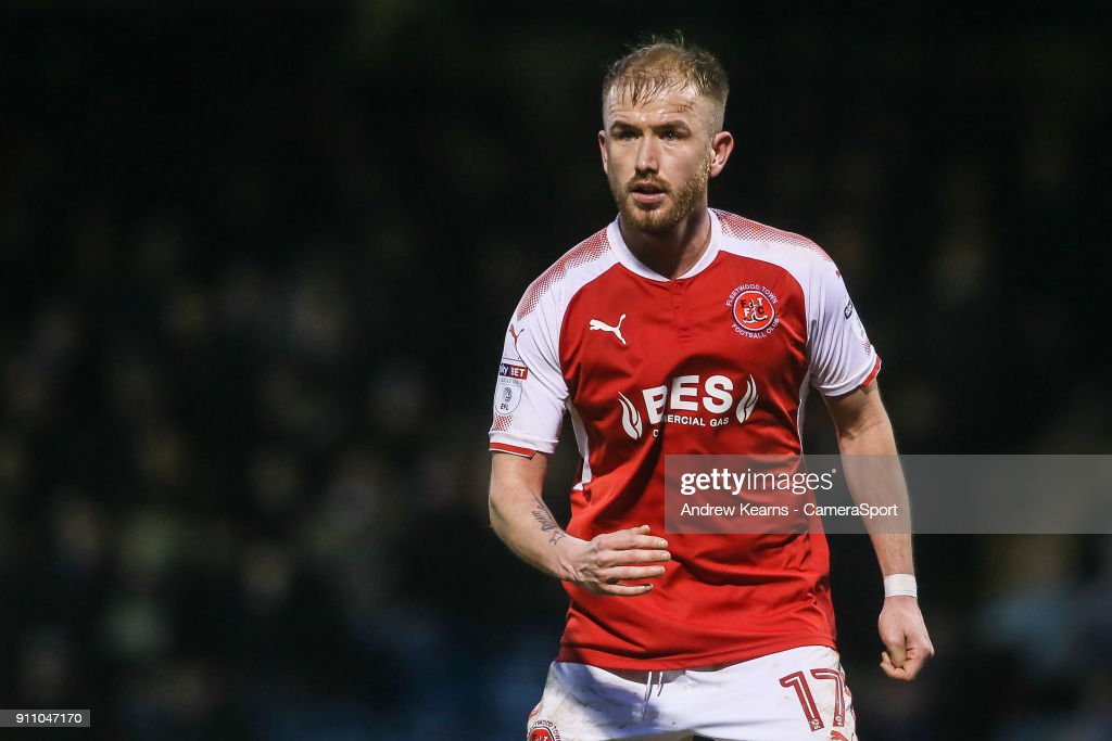 Fleetwood Town's Paddy Madden during the Sky Bet League One match between Gillingham and Fleetwood Town at Priestfield Stadium on January 27, 2018 in Gillingham, .