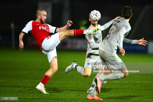 Fleetwood Town's Paddy Madden in action during the FA Cup Third Round match between Fleetwood Town and Portsmouth at Highbury Stadium on January 4...