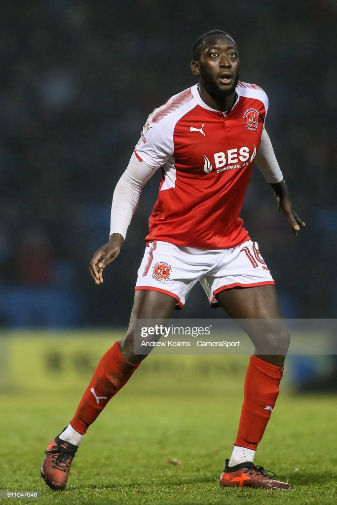 Fleetwood Town's Toumani Diagouraga during the Sky Bet League One match between Gillingham and Fleetwood Town at Priestfield Stadium on January 27, 2018 in Gillingham, .