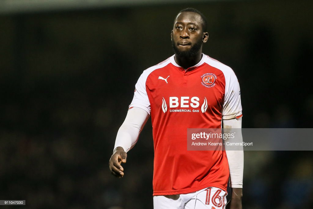 Fleetwood Town's Toumani Diagouraga looks dejected as he walks off the pitch having lost the game 2-1 during the Sky Bet League One match between Gillingham and Fleetwood Town at Priestfield Stadium on January 27, 2018 in Gillingham, .