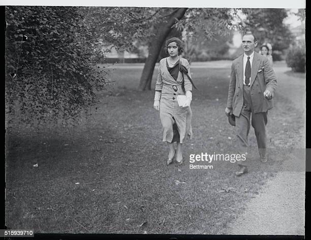 Lindbergh Servants At Curtis Trial Betty Gow and Ollie Whately the nurse and butler in the Lindbergh home are photographed as they strolled at...
