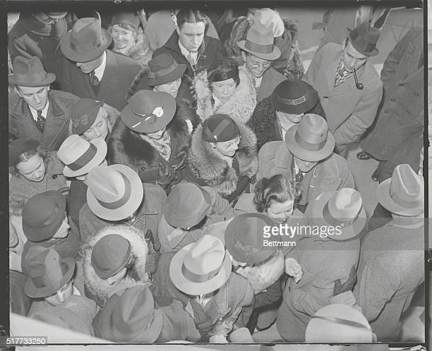 Flemington New Jersey Crowds at Hauptmann Trial A close up view of the crowd in front of the Hunterdon County Courthouse at Flemington New Jersey...