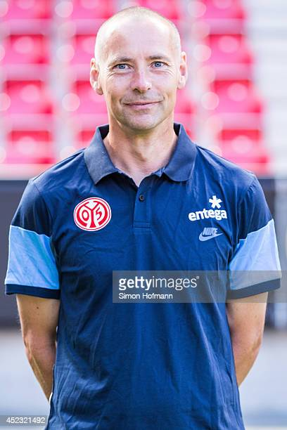 Flemming Pedersen poses during the 1 FSV Mainz Team Presentation at Coface Arena on July 18 2014 in Mainz Germany