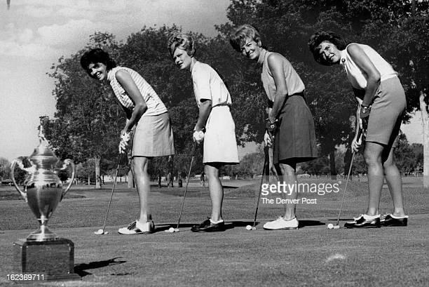JUN 7 1969 JUN 8 1969 Flenniken Carol Ann Top Area Golfers Tune Up Carol Ann Flenniken second from left and Joan Birkland left fought for the Denver...