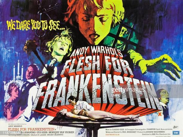Flesh For Frankenstein poster Monique van Vooren Joe Dallesandro Udo Kier Dalila Di Lazzaro on British poster art 1973