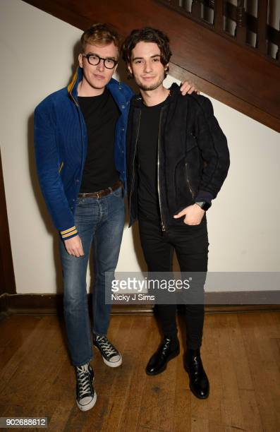 Fletcher Cowan and Jack Brett Anderson attend luxury emporium Liberty London London Fashion Week Mens Event to celebrate the launch of the Belstaff...
