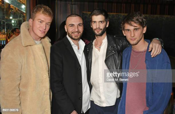 Fletcher Cowan and Julius Getty attend an after party celebrating the FENDI Sloane Street Boutique opening at Isabel on December 14 2017 in London...