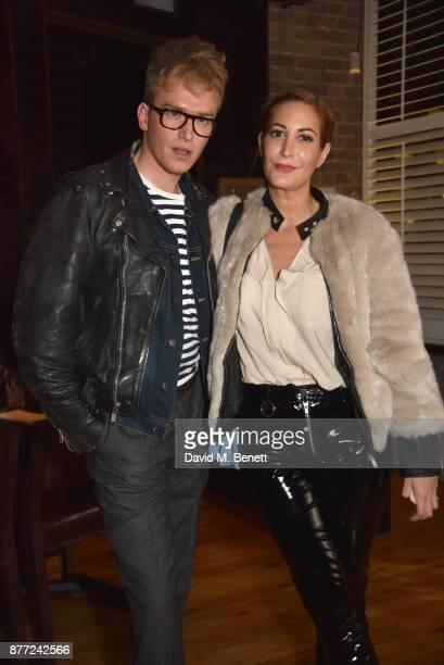 Fletcher Cowan and Laura Pradelska attend Mason Smillie's birthday party at McQueen on November 21 2017 in London England