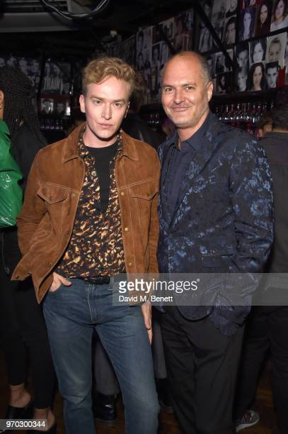 Fletcher Cowan and Paul Price attend the TOPMAN LFWM party during London Fashion Week Men's June 2018 at the Phoenix Artist Club on June 8 2018 in...