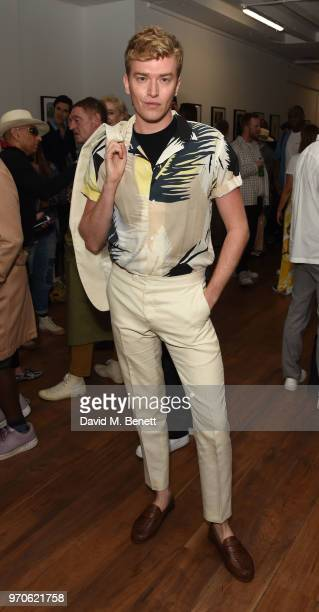 Fletcher Cowan attends GarconJon 10 Years Of Street Style presented by Vogue Hommes at 13 Floral Street on June 9 2018 in London England