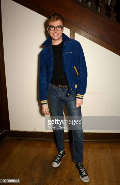 Fletcher Cowan attends luxury emporium Liberty London London Fashion Week Mens Event to celebrate the launch of the Belstaff Origins collection in...