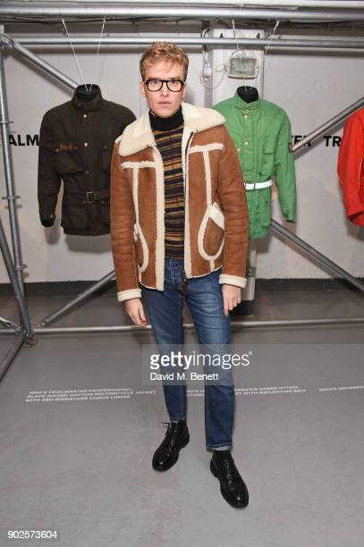 Fletcher Cowan attends the Belstaff presentation during London Fashion Week Men's January 2018 at The Vinyl Factory Gallery on January 8 2018 in...