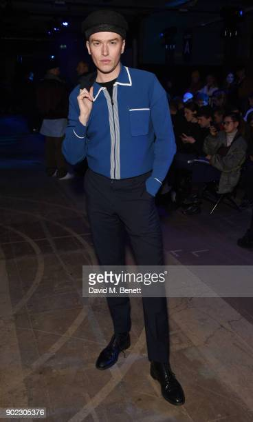 Fletcher Cowan attends the Charles Jeffrey LOVERBOY show during London Fashion Week Men's January 2018 at Old Selfridges Hotel on January 7 2018 in...