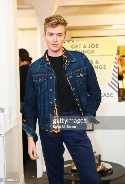 Fletcher Cowan attends the Graduate Fashion Week Gala Show 2018 at The Truman Brewery on June 6 2018 in London England