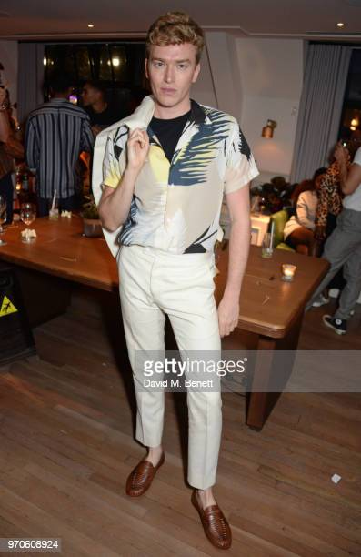 Fletcher Cowan attends the London Fashion Week Men's cocktail party with DANIEL w FLETCHER and Christian Louboutin at Mortimer House on June 9 2018...