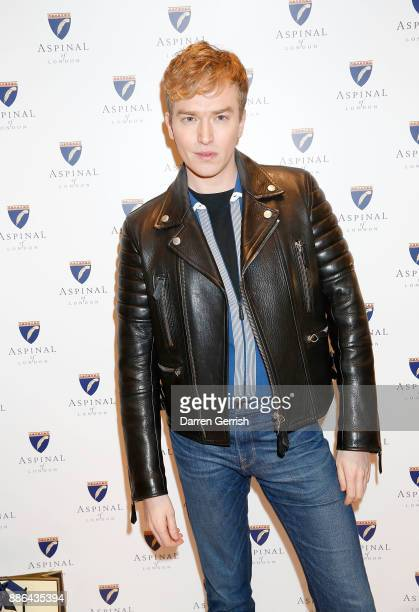 Fletcher Cowan attends the new flagship store launch of Aspinal on Regent's Street St James's on December 5 2017 in London England