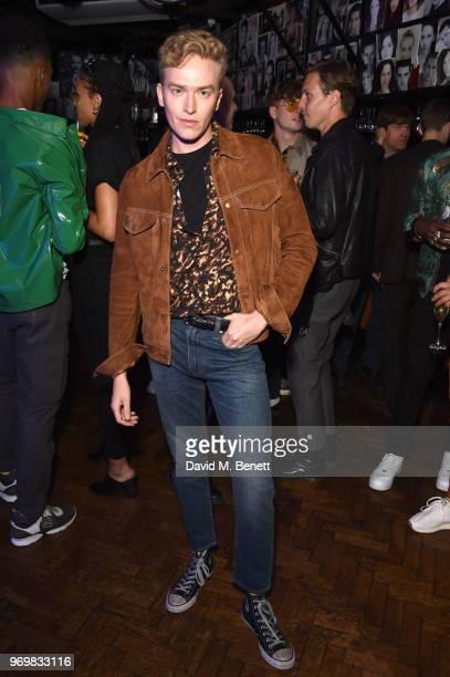 Fletcher Cowan attends the TOPMAN LFWM party during London Fashion Week Men's June 2018 at the Phoenix Artist Club on June 8 2018 in London England