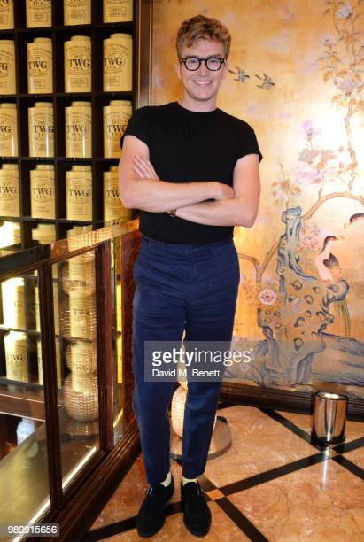 Fletcher Cowan attends the TWG Tea Gala Event in Leicester Square to celebrate the launch of TWG Tea in the UK on July 2 2018 in London England