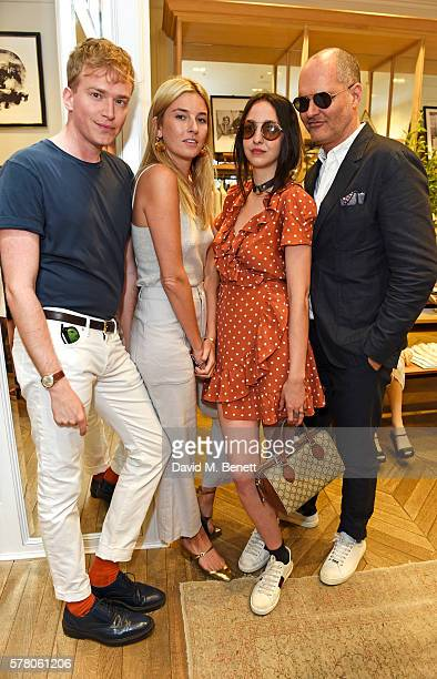 Fletcher Cowan Camille Charriere Tish Weinstock and guest attend the Club Monaco Summer Cocktail Party on July 20 2016 in London England