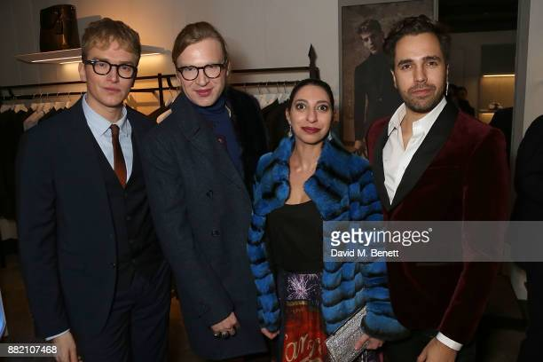 Fletcher Cowan Henry Conway Ashraf Qizilbash and Diego Bivero VolpeÊattend the launch of the Hardy Amies x VOLPE VIP collaboration at Hardy Amies...