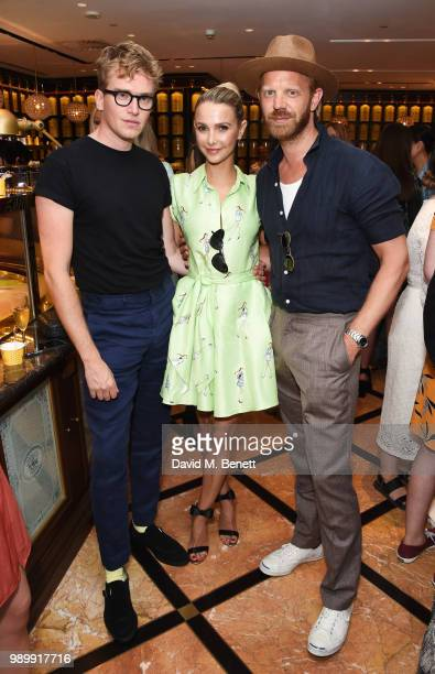 Fletcher Cowan Sophie Hermann and Alistair Guy attend the TWG Tea Gala Event in Leicester Square to celebrate the launch of TWG Tea in the UK on July...