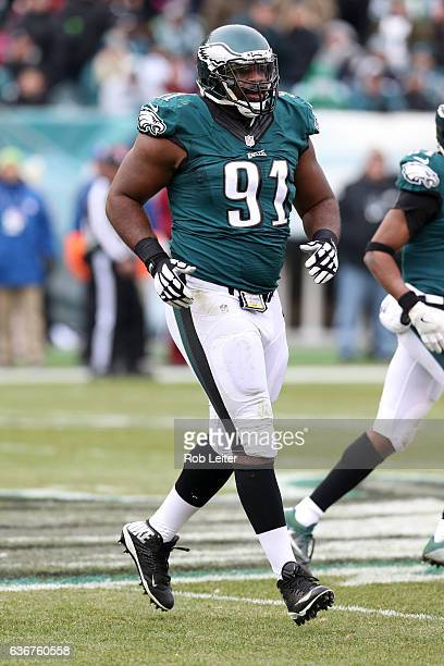 Fletcher Cox of the Philadelphia Eagles in action during the game against the Washington Redskins at Lincoln Financial Field on December 11 2016 in...