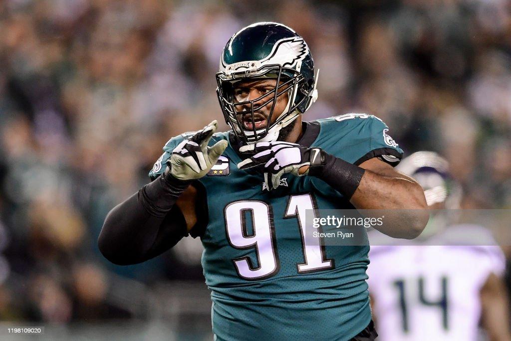 Wild Card Round - Seattle Seahawks v Philadelphia Eagles : News Photo
