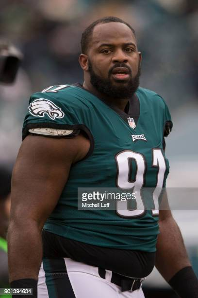 Fletcher Cox of the Philadelphia Eagles walks to the locker room prior to the game against the Dallas Cowboys at Lincoln Financial Field on December...