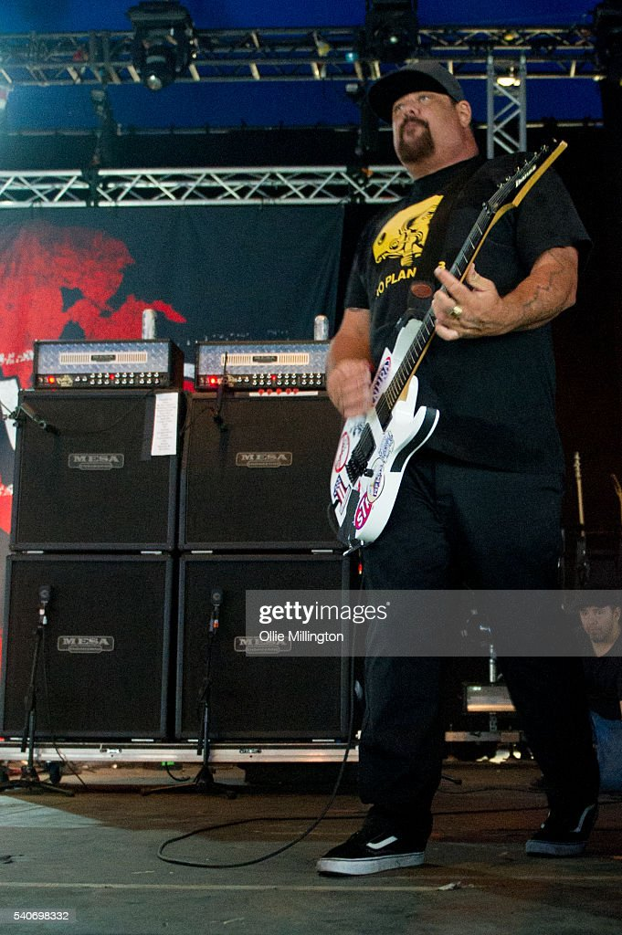Fletcher Dragge of Pennywise performs onstage on Day 2 of Download