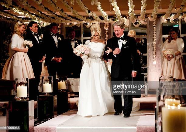 Fletcher Jones III And Dalene Kurtis attend Fletcher Jones III And Dalene Kurtis Wedding at Beverly Hills Hotel on March 2 2013 in Beverly Hills...