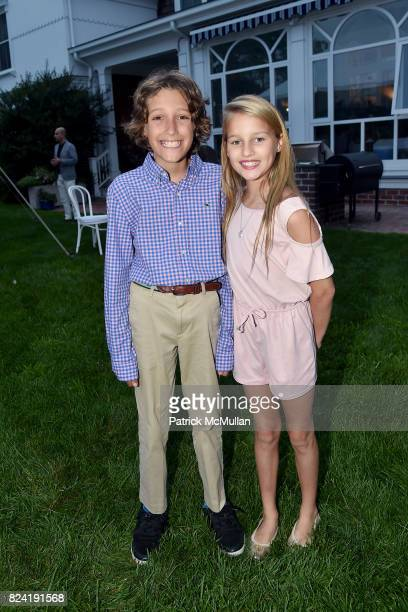 Fletcher Kaneb and Ava Johnson attend Alzheimer's Association Hosts Rita Hayworth Gala Hamptons Kickoff Event at Private Residence on July 28 2017 in...