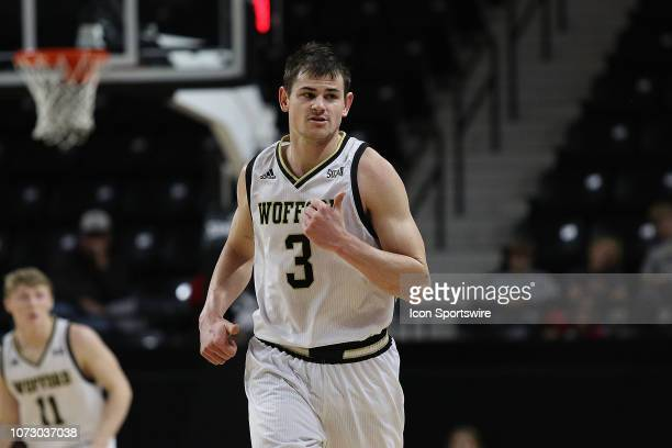 Fletcher Magee guard of Wofford during a college basketball game between Costal Carolina Chanticleers and Wofford College Terriers on December 9 2018...
