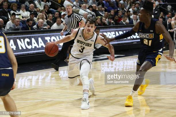 Fletcher Magee guard of Wofford during a college basketball game between the UNCG Spartans and the Wofford Terriers on February 16 at Jerry...