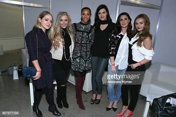 Fleur De Force Megan Parken Rochelle Humes Sam Chapman and Nicola Haste AKA Pixiwoo and attends Beautycon Festival London 2016 at Olympia London on...