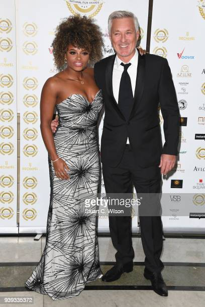 Fleur East and Martin Kemp attend the National Film Awards UK at Porchester Hall on March 28 2018 in London England