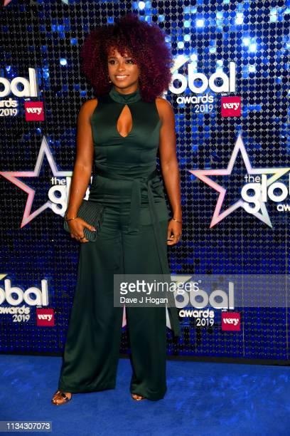 Fleur East arrives at the The Global Awards with Verycouk at Eventim Apollo Hammersmith on March 07 2019 in London England