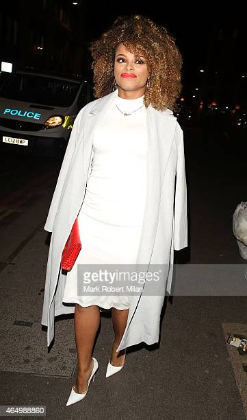 Fleur East attending The Sun Bizarre Party at Steam and Rye on March 2 2015 in London England