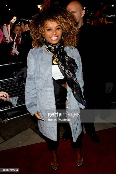 Fleur East attends a home coming visit to Walthamstow ahead of The X Factor Live Final on December 10 2014 in London England
