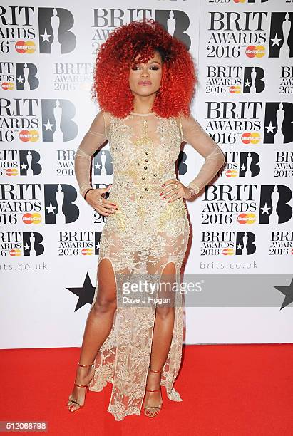 Fleur East attends the BRIT Awards 2016 at The O2 Arena on February 24 2016 in London England