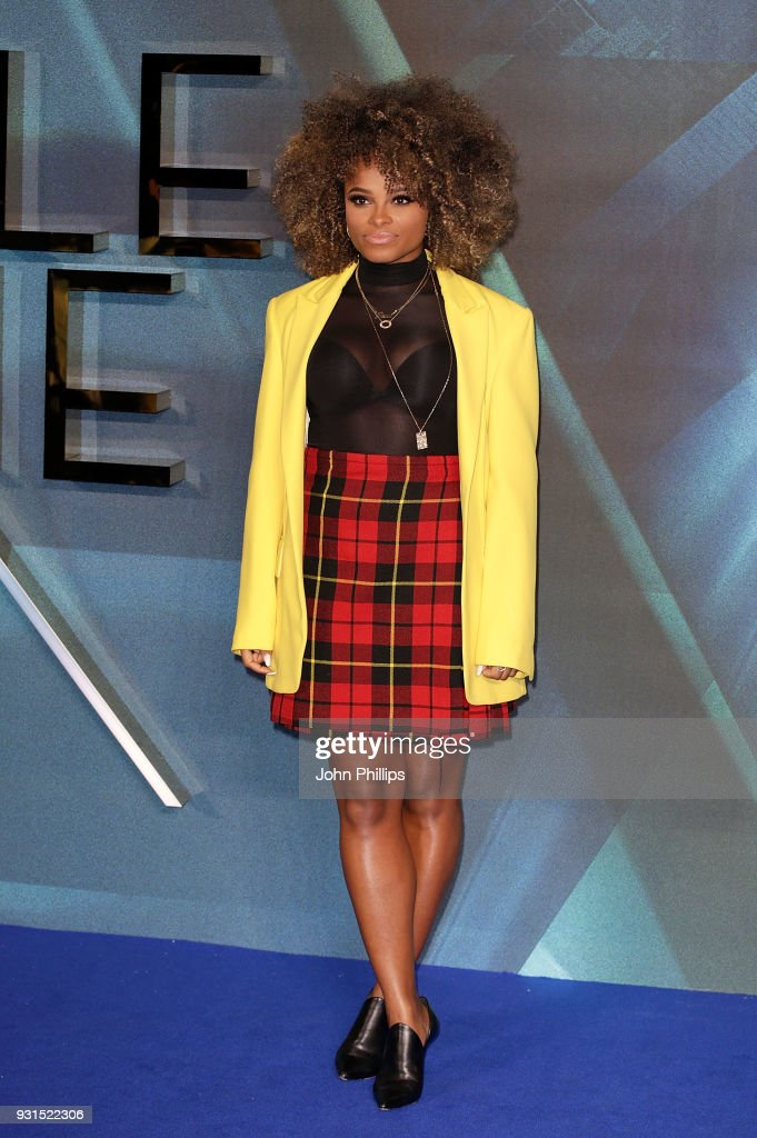 Fleur East attends the European Premiere of 'A Wrinkle In Time' at BFI IMAX on March 13, 2018 in London, England.