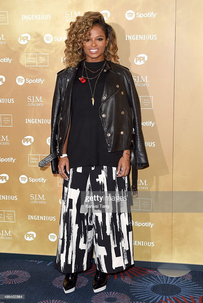 Fleur East attends the Music Industry Trusts Awards in aid of the Nordoff Robbins charity and BRIT Trust at The Grosvenor House Hotel on November 2, 2015 in London, England.