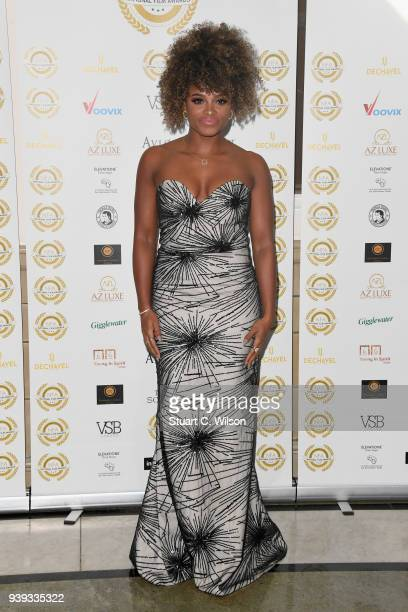 Fleur East attends the National Film Awards UK at Porchester Hall on March 28 2018 in London England