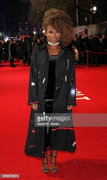 Fleur East attends the World Premiere of I Am Bolt at Odeon Leicester Square on November 28 2016 in London England
