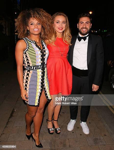 Fleur East Lauren Platt and Andrea Faustini attending the Cosmopolitan Ultimate Women Of The Year Awards on December 3 2014 in London England