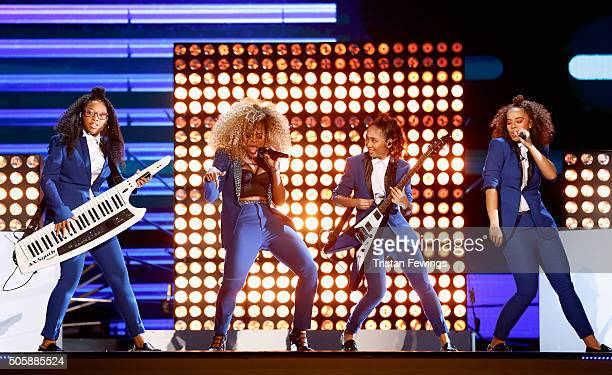 Fleur East performs at the 21st National Television Awards at The O2 Arena on January 20 2016 in London England