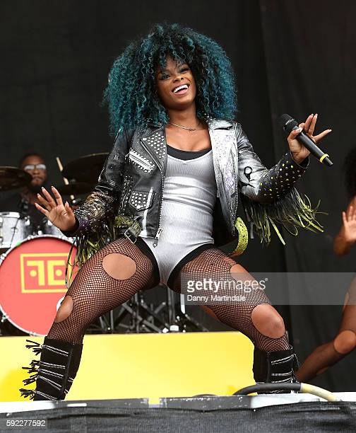 Fleur East performs at V Festival at Weston Park on August 20 2016 in Stafford England