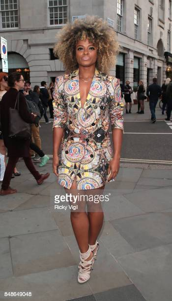 Fleur East seen at LFW s/s 2018 House of MEA catwalk show at Freemasons Hall during London Fashion Week September 2017 on September 17 2017 in London...