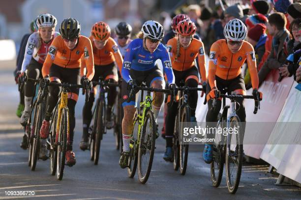 Fleur Nagengast of The Netherlands and Team The Netherlands / Silvia Persico of Italy and Team Italy / Ceylin Del Carmen Alvarado of The Netherlands...